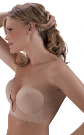 U Plunge Backless Strapless Bra. Style# BQ536.