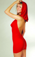 Hooded, low-backed dress from Floodline.