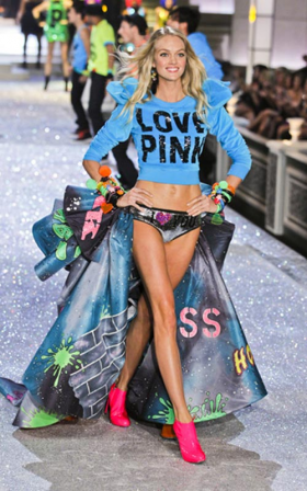 Looks from the Victoria's Secret annual runway show.
