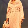 Lunda di Giorno: Blush pink bathrobe with turban and mule.