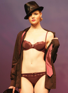 Luli: Plum colored string and bra.