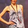 Mimmelu: Blue camisole, plain short and bra.