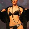 Mimmelu: Wildflower print knicker and black bra.