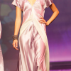 Flora Lastraioli: Lilac satin nightgown.