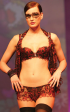 Chasney Beauty: Black and red embroidered boyshort and bra with matching bolero.