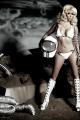 Kim Kardashian in a look from Kardashians for Beach Bunny Swimwear.