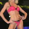 Oh La La Cheri: Strawberry pink pucker ruffle bra and matching thong.