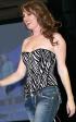Eldorado: Strapless belted Zebra stripe corset by Daisy Corsets.