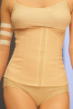 Esbelt Brazilian Bodywear: Nude shapewear waistbelt and bottom.