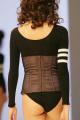 Esbelt Brazilian Bodywear: Black and nude shapewear waistbelt and bottom.