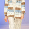 Lohe: Blue and eccru striped pajamas.