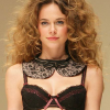 Fauve: Black and prune bra.