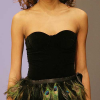 Harlette Luxury Lingerie: Black basque with feathers.