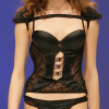 Jolidon: Black bustier and string.