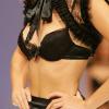 Prelude: Black top, bra and suspender brief.