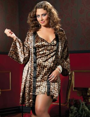 Plus-size sleepwear by Seven 'til Midnight.