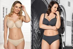 Two versions of the Virginia bra.