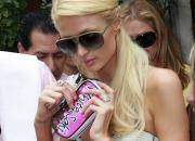 Paris Hilton with a WhiteSaki panty pouch.