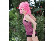 A look from Dreamgirl. Model is wearing a Henry Margu wig.