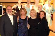 Seth Morris, Susan Demusis and Carole Hochman of Carole Hochman Design Group with Elizabeth Hospodar, DMM and OVP of intimate apparel at Bloomingdale's.