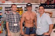 Robert Clark of Skiviez with model and Camilo Escobar of Clever.