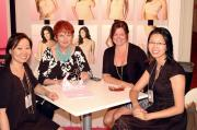 Winnie Tsui of The Art of Shaping, Lorraine Chambers and Amanda Kennedy of Sassybax, and Ellen Chan of The Art of Shaping.