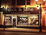 The Front of Dick & Jane Romance Boutique.