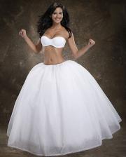 Merry Modes strapless bra & bridal crinoline.