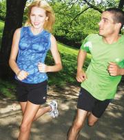 Disney Marathon Weekend runners in Champion apparel.