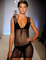 An image from Aqua Di Lara on the runway at Mercedes Benz Fashion Week 2010.