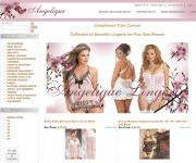 Angelique: An image of the website.