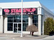 Stag Shop: The entrance to the new store in Barrie, Ontario.