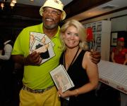 Shibue: Samuel L. Jackson with Jenny Buettner at the George and Ann Lopez Celebrity Golf Tournament.