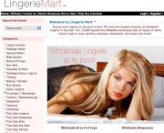 Lingerie Mart: The homepage of the distributor's website.