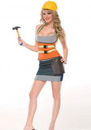 Coquette: Construction worker costume.