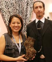 Ellen Renger & Jose Palos, shoe designer  for Ellie Shoes.