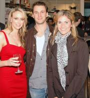 Claire Chambers, owner of Journelle, with attendees at the Soho store's opening party.