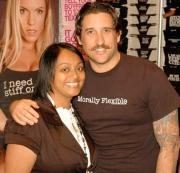 Zach Goode (right) with Rona Bonilla.