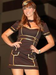 A flight attendant costume by Leg Avenue.