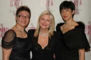 Angie Lau, C.E.O of Clover International, Sharen Jester Turney, C.E.O of Victoria's Secret and Emily Lau of Clover International.