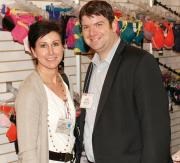 Linda Coyar of Beals Outlet Stores and Sammy Essess of Sheermax.