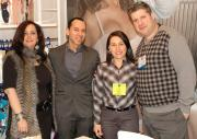 Elyse Amos of ClassicShapewear.com with Octavio Quintana and Lina Medina of Leonisa and Moshe Amos of ClassicShapewear.com.