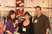 Jessica Hlavac and Jen Abercrombie of Panty Raid with Wink Wells of Wells Intimates.
