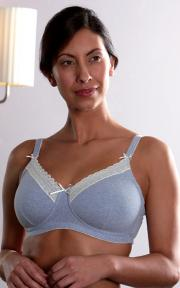 The Chloe bra in blue.