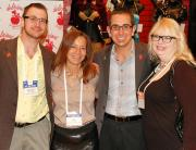 Michael Beige of Rubie's, Patty Gatto of Delicious, David Beige of Rubie's and Lisa Morel of Adam and Eve.