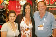 Donna Monahan of Raveware with Melissa Lott and Ron Simpson of Adam & Eve.