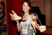 Lydia Conley of Ellie Shows Breast Cancer Coalition Shoes