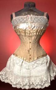 An antique corset from Melanie Talkington's collection.