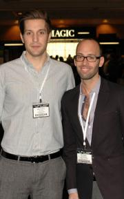 New Freshpair.com president Matthew Butlein with former company president Michael Kleinmann.