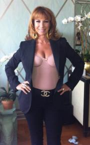 Jill Zarin models a style from her Skweez Couture Shapewear collection.
